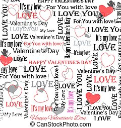 background to the Valentine's Day. vintage style. Set 6. Vector