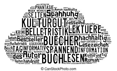 Tag Cloud about book - Word-cloud rund um das Thema...