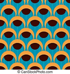 3d seamless pattern with circles and half-round shapes....
