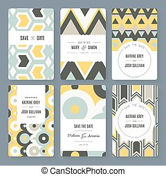 Save The Date collection - Set of perfect vector card...