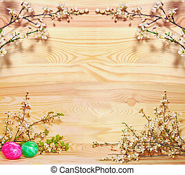 Cherry blossoms background.