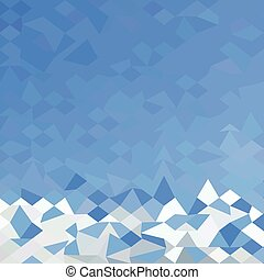Blue Sea Surf Abstract Low Polygon Background