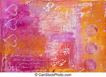 heart paiting - heart painting, artwork is created and...