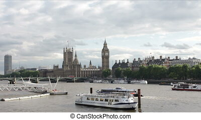 Westminster and Thames View - View upon Houses of Parliament...