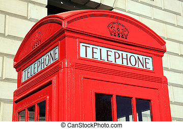 London Red Telephone Box - Traditional red London telephone...