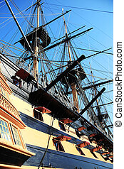 HMS Victory was Admiral Horatio Nelson's flagship at the...