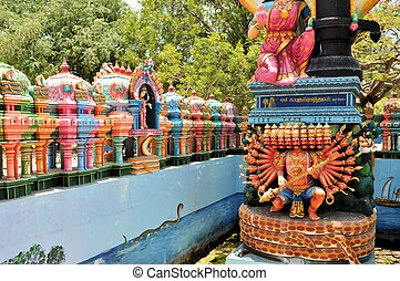 Hindu shrine at island temple, Sri Lanka - Hindu shrine for...