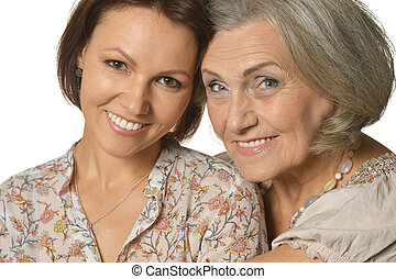 mother and daughter - Portrait of a happy mother and...