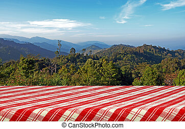 Outdoor Picnic Background. - Outdoor Picnic Background with...