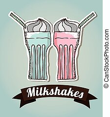 milkshake design, vector illustration eps10 graphic