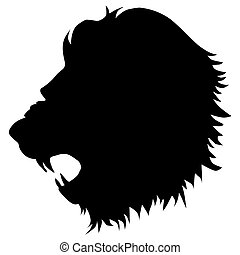 lion - silhouette of lion