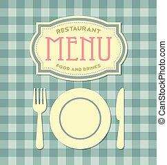 Restaurant menu cover