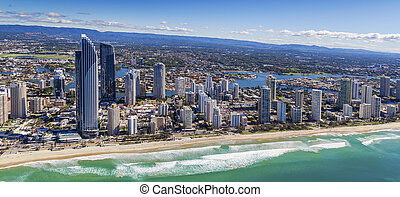 Surfers Paradise - Aerial view of Surfers Paradise and...