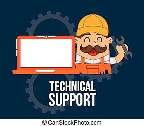 computer support design, vector illustration eps10 graphic