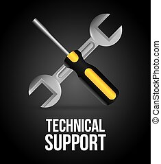 technical support design, vector illustration eps10 graphic