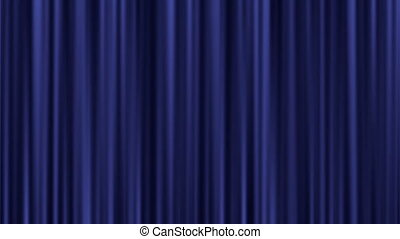 Light shining on a closed velvet curtain - Background...