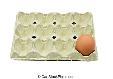 Photo of one brown egg