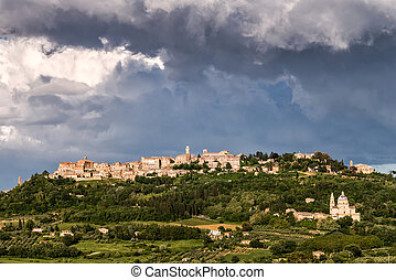 Storm Brewing over Montepulciano