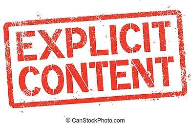 Explicit content - Vector illustration of Explicit content...