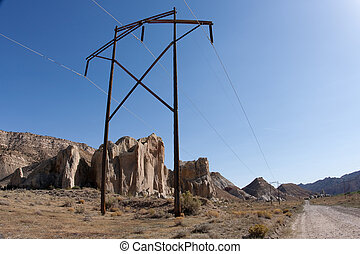 Power Transmission Pole on the Cottonwood Road - Power...