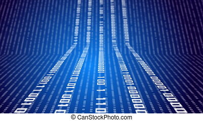 Binary code on abstract technology background