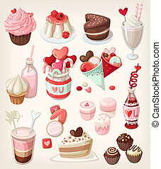 Colorful valentine food - Colorful food for love related...