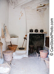 Part of old kitchen in the mansion.
