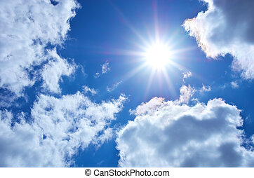 azul, sky., ,