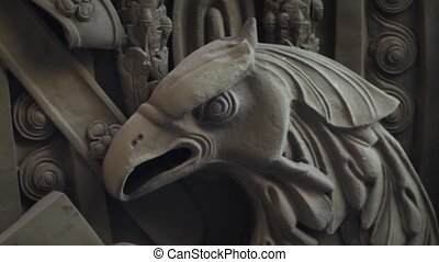 eagle bas Relief - predatory eagle bas Relief