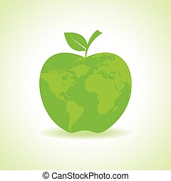 Eco Apple icon with map