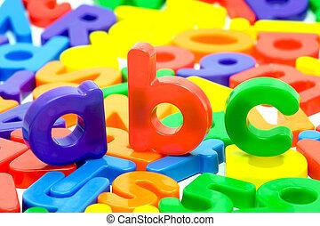 lettres, de, les, Alphabet