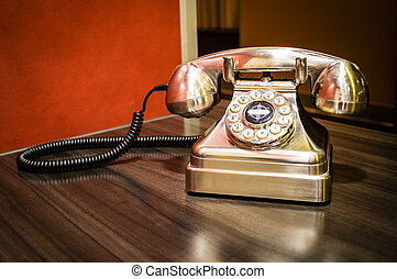 Old Fashioned Telephone - A metallic old fashioned landline...