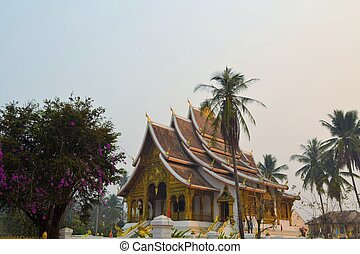 Old Buddhist temple in Laos