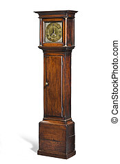 tall longcase grandfather clock - English antique tall long...