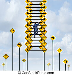 Success Ladder - Success ladder concept and career climb...