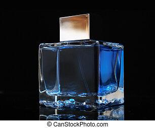 azul, desodorante, superficie, anteojos