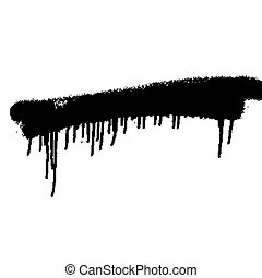 spray paint - black spray paint on white isolated background