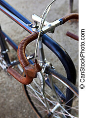 Handlebar - Stylish bike and handlebar covered of leather