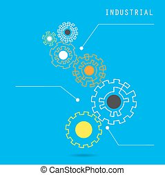 Creative gear abstract vector design banner template. Corporate business industrial creative logotype symbol.