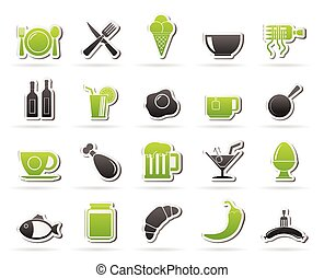 Food, drink and restaurant icons