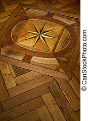 Wooden floor - Stylish wooden floor in a French home
