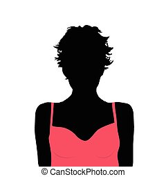 girl beauty color vector silhouette