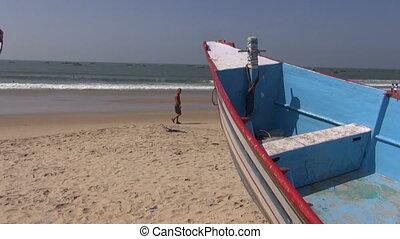 beautiful resort beach in Goa,India