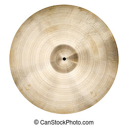 Cymbal - Isolated single cymbal on white