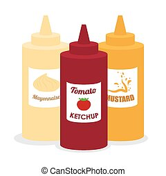 Food design , vector illustration - Food design over white...