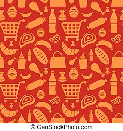 food pattern red