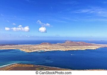 Island of La Graciosa a taken from the Mirador del - The...