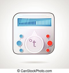 Colored vector illustration of temperature regulator -...