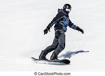 Snowboarding at Low Tatras, Slovakia