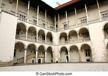 Wawel castle - Renaissance arcades, The Wawel Royal Castle...